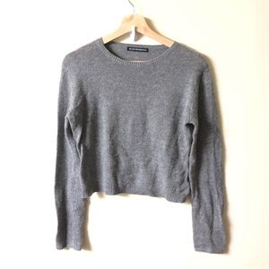 Brandy Melville one size wool blend gray sweater